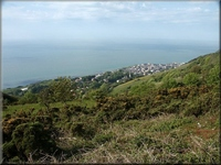 View of Ventnor from the Top Site