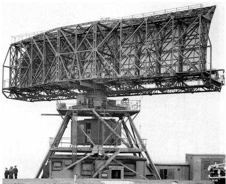The massive Type80 Early Warning Radar